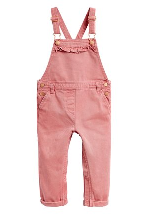 CHARCOAL PRINTED DUNGAREES (3MTHS-7YRS) - Salopette - pink