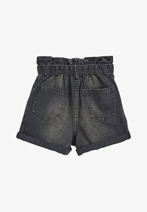 CHARCOAL PAPERBAG WAIST SHORTS (3-16YRS) - Jeansshort - grey