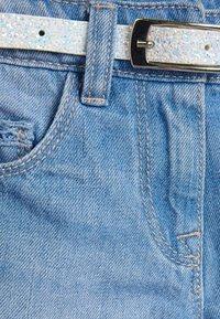 Next - DENIM MID BLUE SHORTS WITH GLITTER PURSE BELT (3-16YRS) - Denim shorts - blue - 3