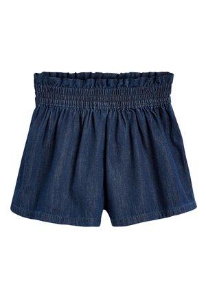 NAVY DARK LINEN SHORTS (3-16YRS) - Denim shorts - blue