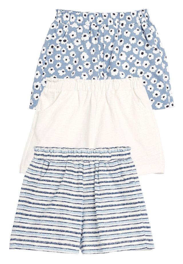 BLUE/WHITE 3 PACK SHORTS (3MTHS-7YRS) - Shorts - blue