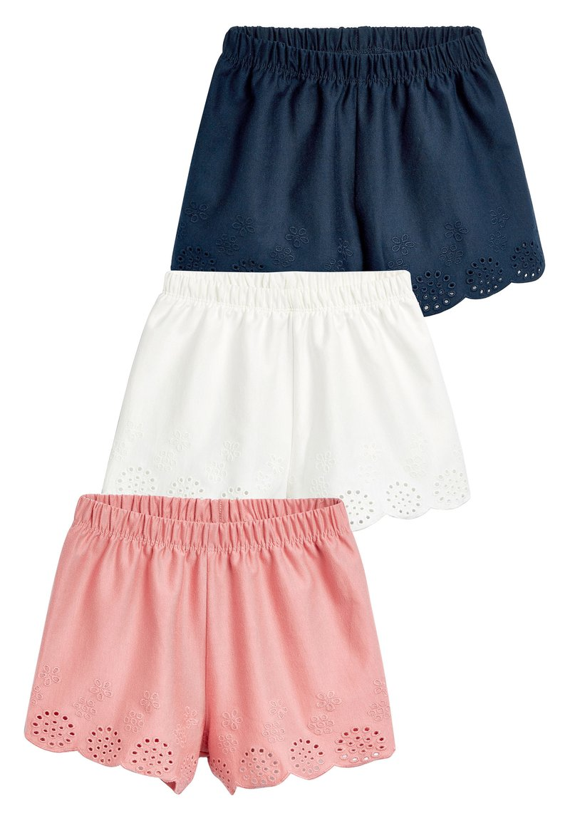 Next - MULTI 3 PACK JERSEY BRODERIE SHORTS (3MTHS-8YRS) - Shorts - pink