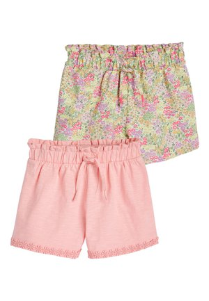 PINK FLORAL 2 PACK JERSEY SHORTS (3-16YRS) - Shorts - pink