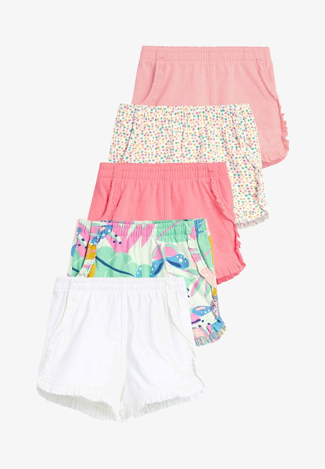 FLURO 5 PACK SHORTS (3MTHS-7YRS) - Szorty - pink