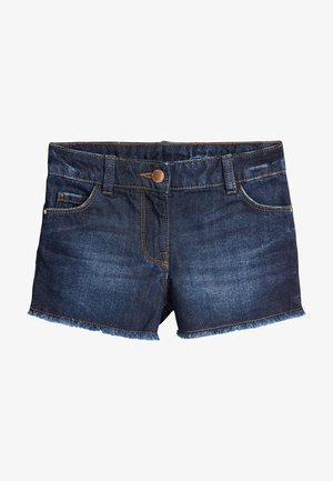 DARK BLUE FRAYED HEM SHORTS (3-16YRS) - Denim shorts - blue