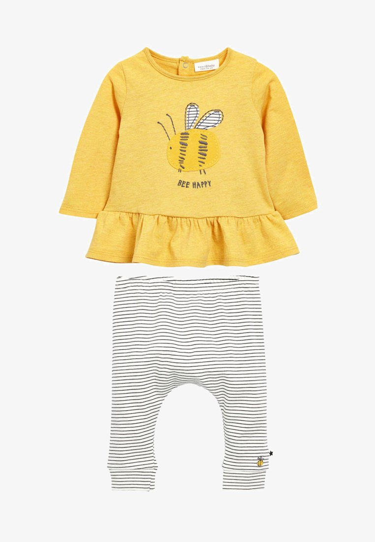 Next - OCHRE BEE T-SHIRT AND LEGGINGS SET - Tights - yellow