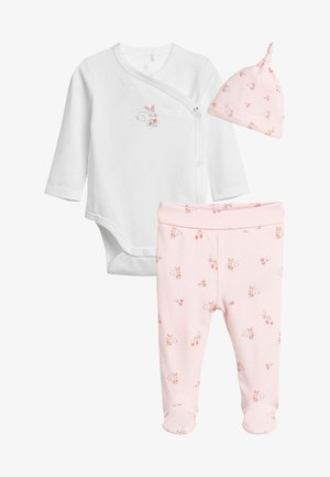 SET - Beanie - pink/white