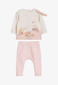 Next - WHITE/PINK BUNNY T-SHIRT, LEGGINGS AND HEADBAND SET (0MTHS-3YRS) - Legging - pink - 1