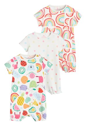 MULTI 3 PACK RAINBOW CHARACTER ROMPERS (0MTHS-3YRS) - Jumpsuit - blue