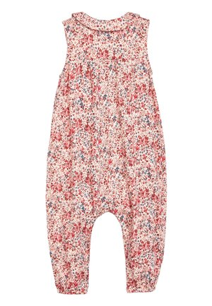PINK DITSY COLLAR JUMPSUIT (3MTHS-7YRS) - Jumpsuit - pink