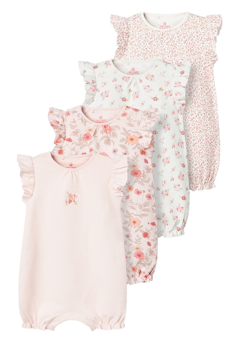 Next - PINK 4 PACK FLORAL ROMPERS (0MTHS-3YRS) - Overall / Jumpsuit /Buksedragter - pink
