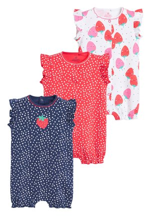 NAVY/RED 3 PACK STRAWBERRY ROMPERS (0MTHS-3YRS) - Overall / Jumpsuit - blue
