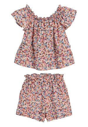 PURPLE FLORAL BLOUSE AND SHORTS SET (3MTHS-7YRS) - Shorts - purple