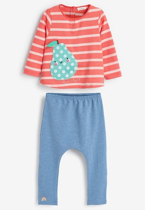 2 PIECE BRIGHT PEAR SET (0MTHS-2YRS) - Leggingsit - red