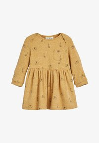 Next - OCHRE GIRAFFE DRESS AND LEGGINGS SET (0MTHS-3YRS) - Legíny - yellow - 1