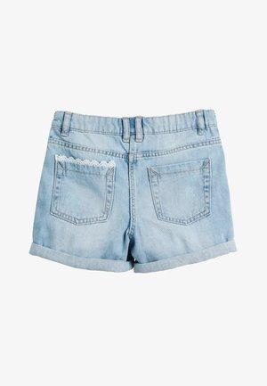 DENIM LACE TRIM SHORTS WITH HEADBAND (3-16YRS) - Denim shorts - blue