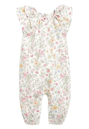 ECRU/PINK FLORAL PRINT ROMPER (0MTHS-2YRS) - Combinaison - off-white