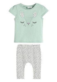 Next - TEAL CHARACTER T-SHIRT AND LEGGINGS SET (0MTHS-2YRS) - Leggings - Trousers - green - 0