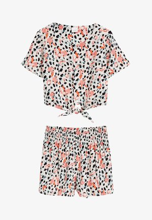 RUST ANIMAL PRINT CO-ORD T-SHIRT AND SHORTS SET (3-16YRS) - Shorts - multi-coloured