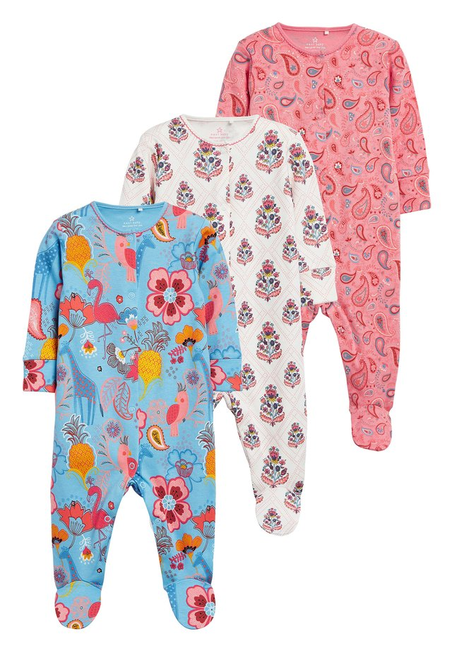 PINK 3 PACK PAISLEY SLEEPSUITS (0MTHS-2YRS) - Piżama - pink