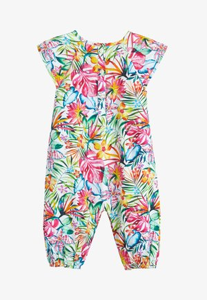 FLORAL PRINTED WOVEN ROMPER (0MTHS-2YRS) - Jumpsuit - off-white