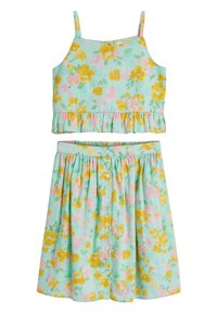Next - AQUA CO-ORD SET (3-16YRS) - A-line skirt - green - 0