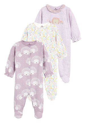 LILAC 3 PACK HEDGEHOG SLEEPSUITS (0-18MTHS) - Pyjama - purple
