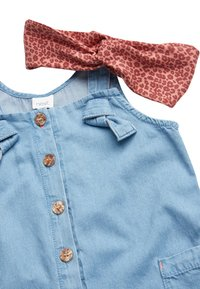 Next - DENIM BLUE JUMPSUIT WITH HEADBAND (3MTHS-7YRS) - Jumpsuit - blue - 3