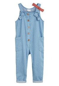 Next - DENIM BLUE JUMPSUIT WITH HEADBAND (3MTHS-7YRS) - Jumpsuit - blue - 0