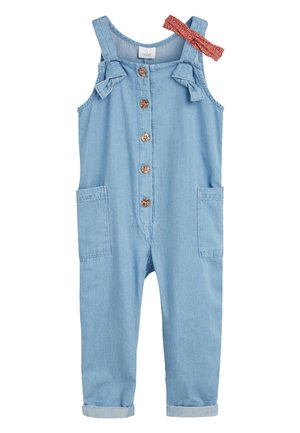 DENIM BLUE JUMPSUIT WITH HEADBAND (3MTHS-7YRS) - Jumpsuit - blue