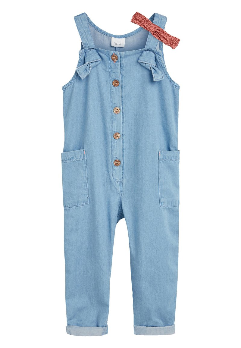 Next - DENIM BLUE JUMPSUIT WITH HEADBAND (3MTHS-7YRS) - Jumpsuit - blue