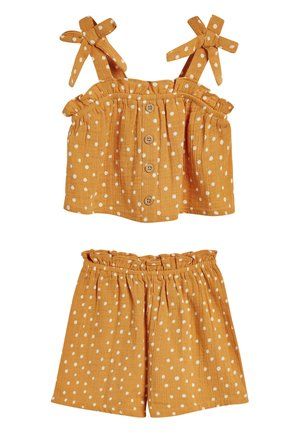 OCHRE POLKA DOT CO-ORD SET (3MTHS-7YRS) - Shorts - orange