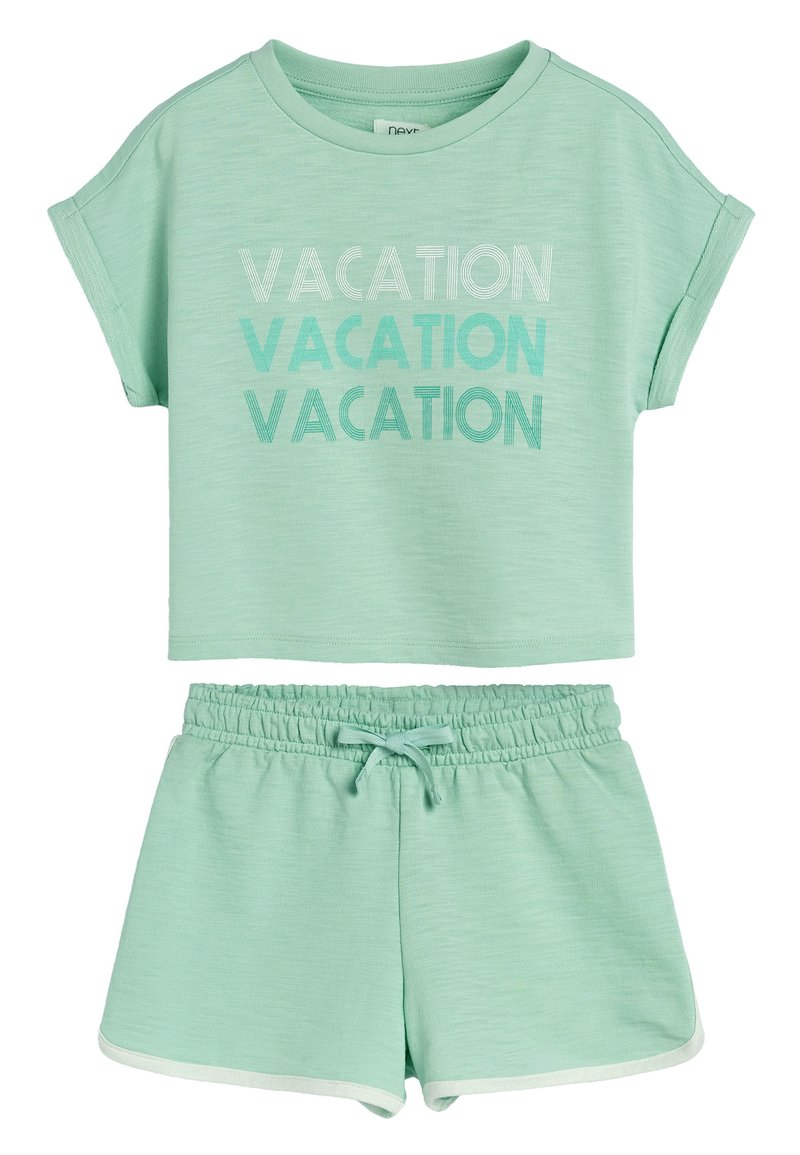 Next - GREEN TOWELLING CO-ORD SET (3-16YRS) - Shorts - green