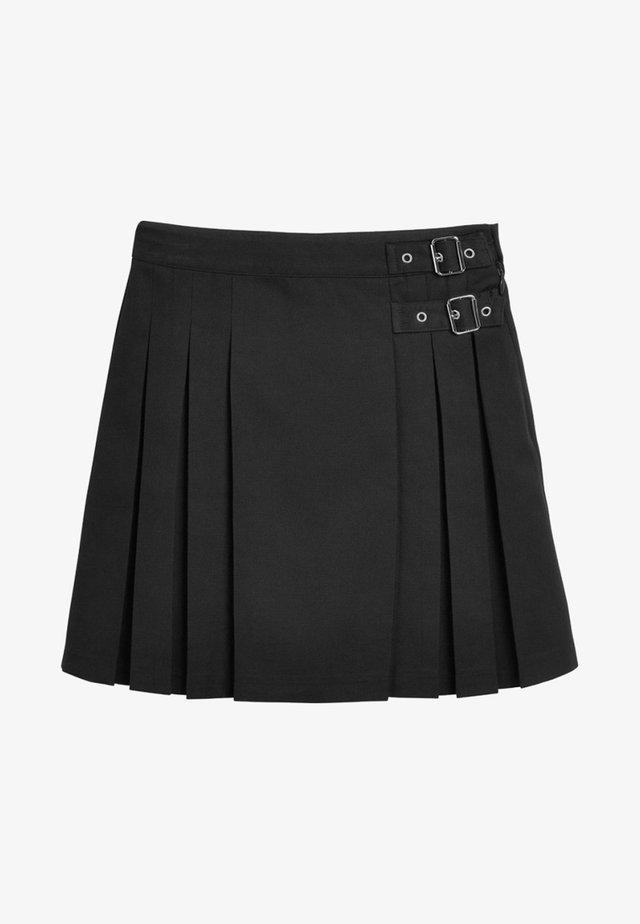 KILT - Veckad kjol - black