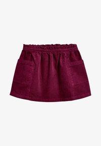 Next - Pliceret nederdel /Nederdele med folder - red - 0