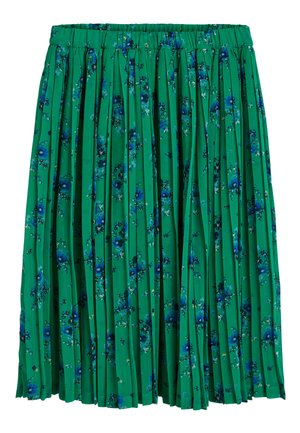 GREEN FLORAL PLEATED SKIRT (3-16YRS) - Pleated skirt - green