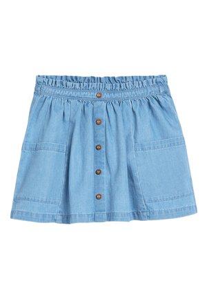 LIGHT WASH PAPERBAG BUTTON THROUGH DENIM SKIRT (3MTHS-7YRS) - A-line skirt - blue