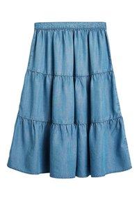 Next - MID BLUE TENCEL® TIERED MAXI SKIRT (3-16YRS) - Maxi skirt - blue - 0
