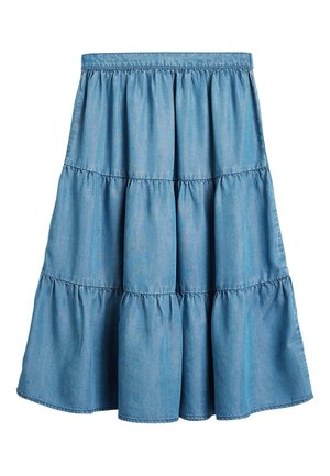 MID BLUE TENCEL® TIERED MAXI SKIRT (3-16YRS) - Jupe longue - blue