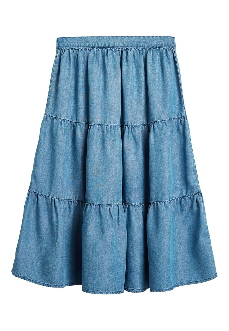 Next - MID BLUE TENCEL® TIERED MAXI SKIRT (3-16YRS) - Maxi skirt - blue