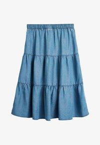 Next - MID BLUE TENCEL® TIERED MAXI SKIRT (3-16YRS) - Maxi skirt - blue - 1