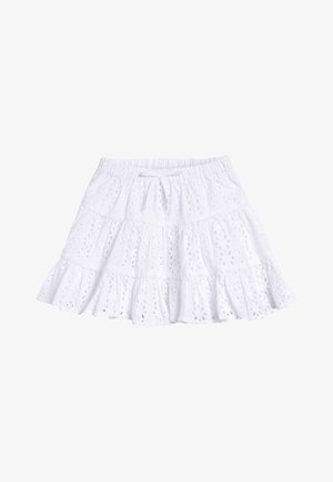 WHITE BRODERIE TIERED SKIRT (3MTHS-7YRS) - A-lijn rok - white