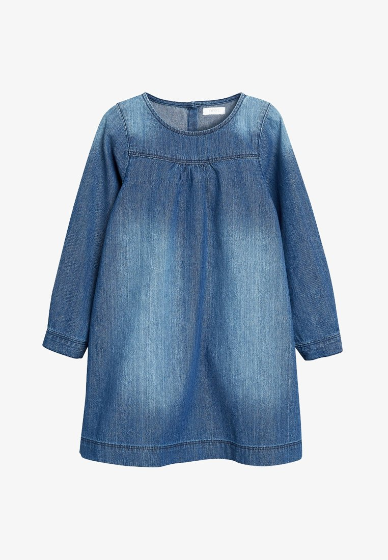 Next - ROLL SLEEVE - Denim dress - blue