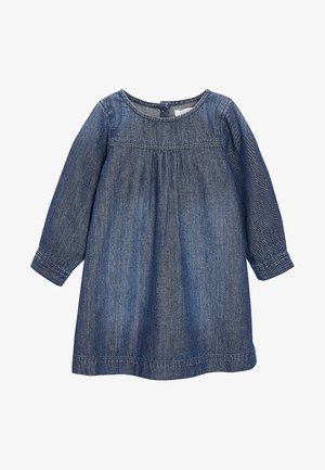 ROLL SLEEVE - Denim dress - blue
