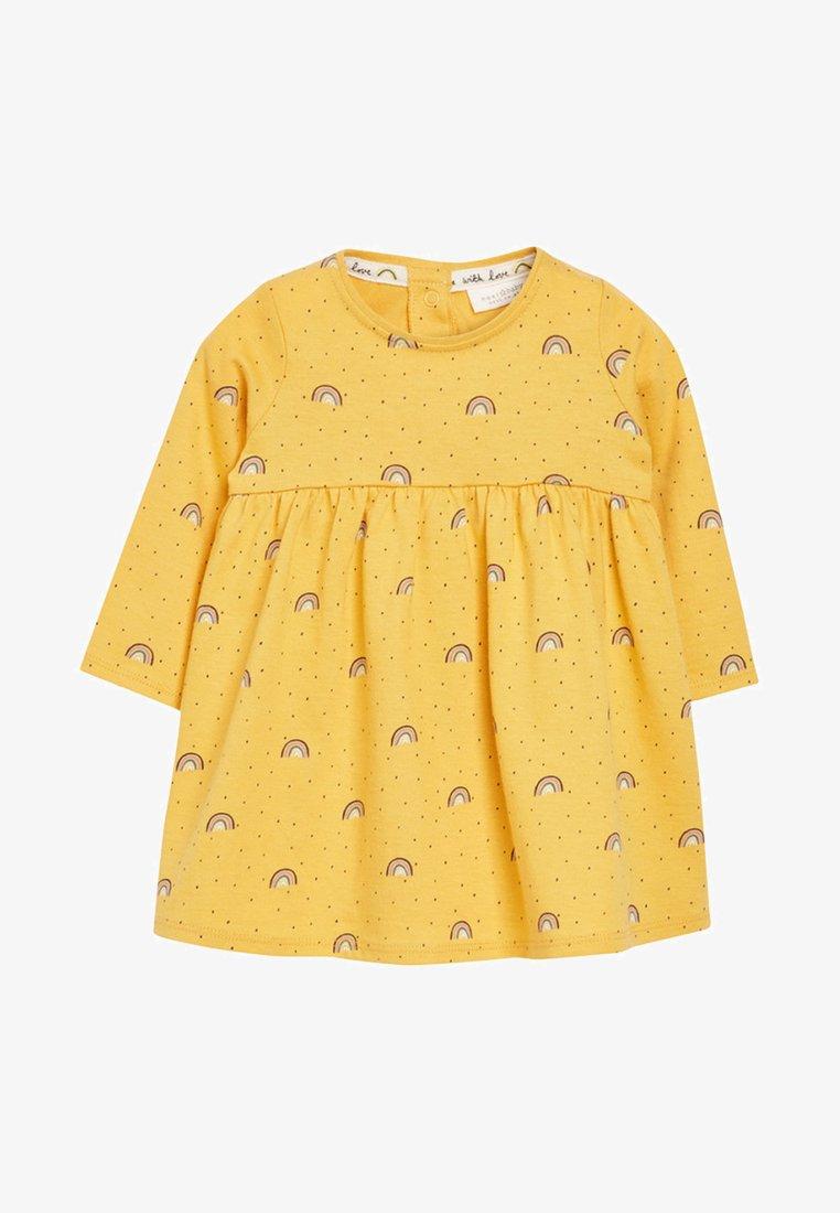 Next - RAINBOW - Jersey dress - yellow