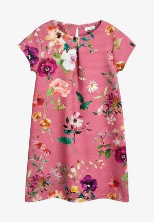 BERRY FLORAL PONTE DRESS (3-16YRS) - Vestido informal - pink