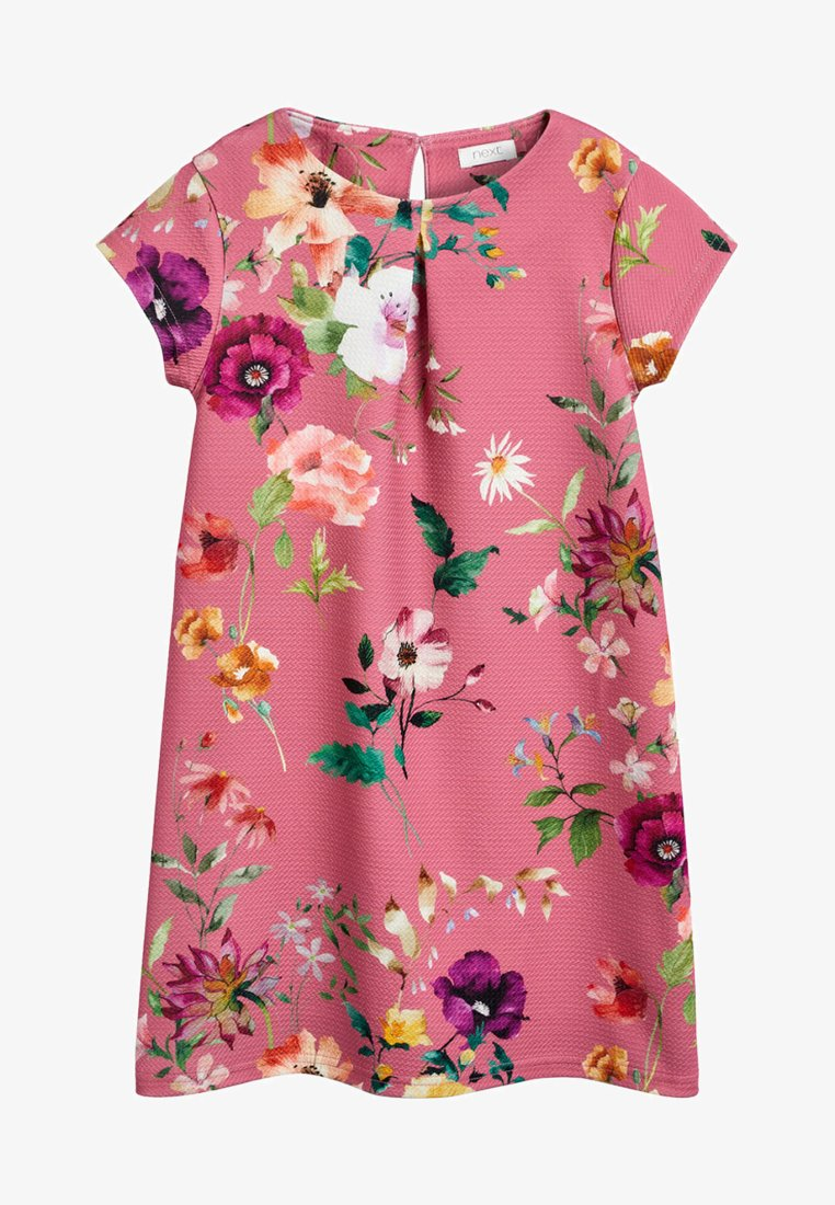 Next - BERRY FLORAL PONTE DRESS (3-16YRS) - Vapaa-ajan mekko - pink