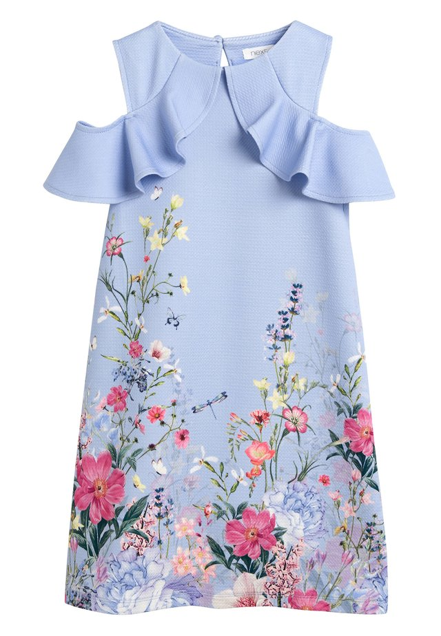 BERRY FLORAL PONTE DRESS (3-16YRS) - Day dress - blue