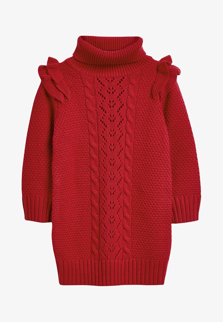 Next - FRILL CABLE - Robe pull - red