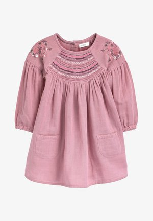 EMBROIDERED  - Korte jurk - pink